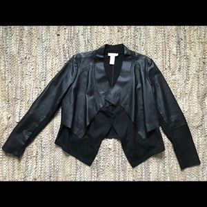 Spiegel Black panel boho leather jacket